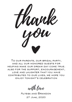 Picture of Wedding Thank You Paragraph